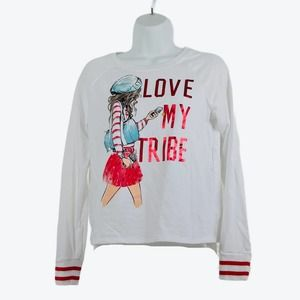 Justice Love my Tribe Pullover Sweatshirt 18